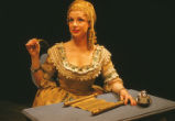 La Serva Padrona - scene from opera - Serpina at writing desk
