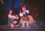 Hansel and Gretel - scene from opera - Hansel and Gretel with basket