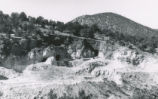 Harding Pegmatite mine - looking west with road in foreground