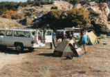 Harding Pegmatite field trip - trucks and tents