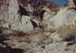 Harding Pegmatite mine - woman standing in front of quarry