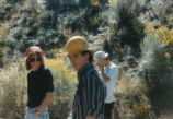 Harding Pegmatite field trip - men in hardhats, woman in bandanna