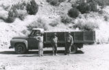 Harding Pegmatite mine - three men and truck