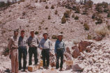 Harding Pegmatite mine - five men and wooden boxes