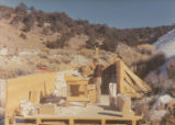 Harding Pegmatite mine - construction - red truck