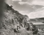 Harding Pegmatite mine - Arthur Montgomery and others sorting beryl