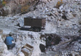 Harding Pegmatite mine - cart filled with minerals