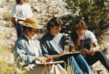 Harding Pegmatite field trip - three women and little girl