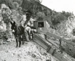 Harding Pegmatite mine - mule and chutes