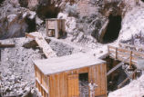 Harding Pegmatite mine - Flaudio Griego, chute, and building