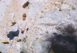 Harding Pegmatite mine - woman and Juan Brown
