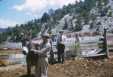 Harding Pegmatite mine - Flaudio Griego with mule named Beryl