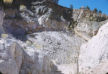 Harding Pegmatite mine - two men with mule
