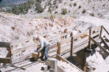 Harding Pegmatite mine - man on bridge