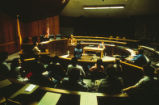 Bratton II - Law School - interior - model courtroom/classroom