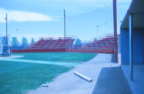 Lobo Baseball field - dugout in foreground