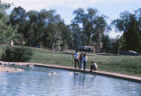 Duck Pond - four students