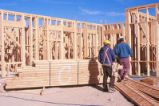 Dormitory - Redondo Village - construction - piles of wood