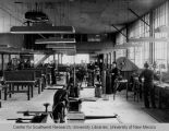 Engineering Annex - interior - men in Navy uniform working