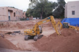 Hibben Center for Archeology Research - construction - Deere 120 hydraulic excavator
