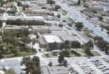 Alumni Chapel and Anthropology building - aerial view