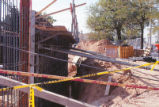 Hibben Center for Archeology Research - construction - rebar frame for foundation