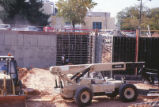 Hibben Center for Archeology Research - construction - telescoping forklift