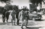 Air Force ROTC - inspecting personnel and staff - Conac 1950-51