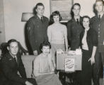 "Air Force ROTC - committee for ""Food for Needy"" Drive - 1951"