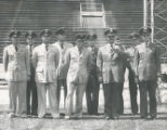 Air Force ROTC - inspecting staff - April 1952