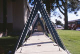 Engineering - Wagner Hall - exterior - looking through suspension bridge