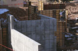 Library - Centennial - under construction - worker on wall