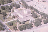 Library - Zimmerman - exterior - aerial view with parking lot