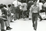1970 student strike - strikers gathered outside building