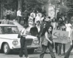 1970 student strike - protesters in front of Administration Building