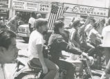 Student Publications - 1970 strike - motorcycles in protest march