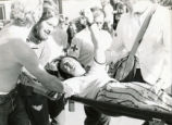 Student Publications - 1970 strike - Steve Sullivan on stretcher