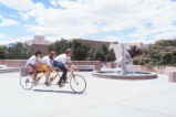 Landscaping - fountain - Education Complex - bicycle built for three