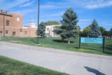 Carlisle Gymnasium - exterior - Mitchell Hall in background