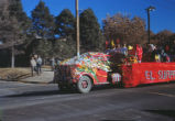 Homecoming parade - red truck