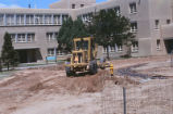Yale Mall - construction - Caterpillar grader in front of Northrop Hall