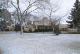 President's House - exterior - light snow cover on lawn