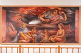 Scholes Hall - interior - painting - Union of the Americas
