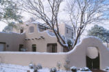 President's House - exterior - snow on wall