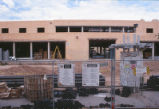 Student Union Building - during renovation - chain link fence