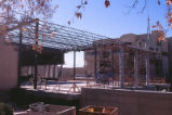 Student Union Building - during renovation - workers on scaffold
