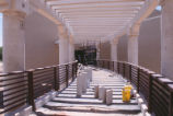 Dane Smith Hall - under construction - concrete ramp