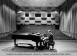 Fine Arts Center - Keller Hall - pianist on stage