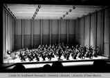 Fine Arts Center - Popejoy Hall - interior - orchestra on stage