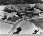 Dormitory - Coronado Hall - aerial view - cars on Redondo Road